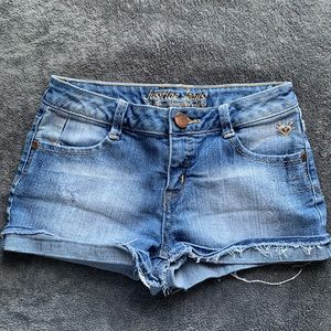 Blue justice jean shorts